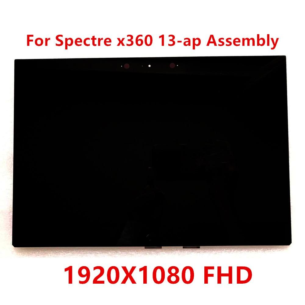 L30348-1J1 مناسبة ل HP شبح x360 13-AP0004UT 13-AP B133HAN05.7 FHD 1920X1080 شاشة الكريستال السائل الزجاج لوحة شاشة لمس