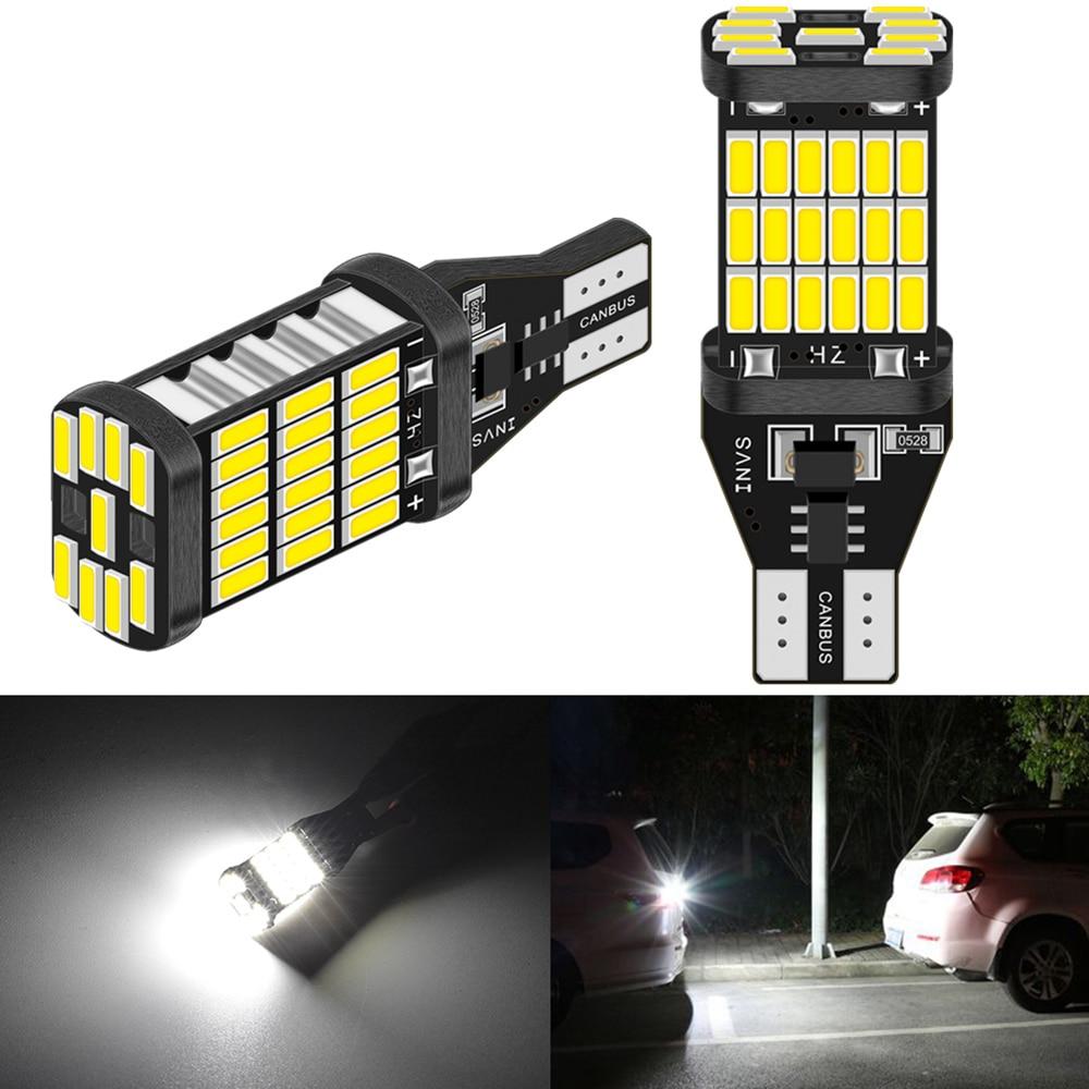 2pcs Canbus T15 T16 led 921 W16W Bulb Car Backup Reverse Lights 1200lm for Hyundai Santa Fe Getz I20 Sonata Ix25 I40 I10 Coupe