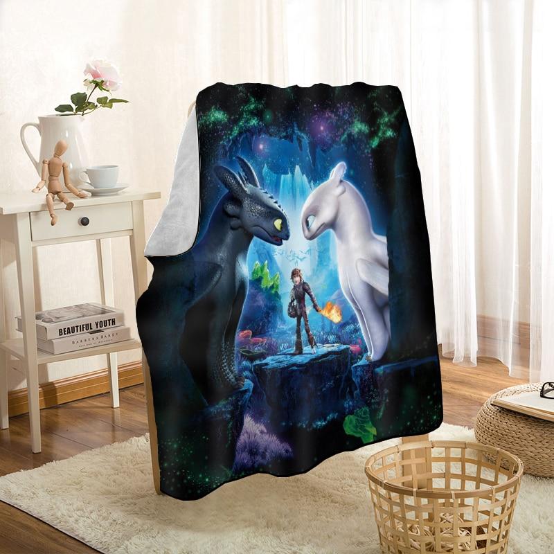 Cómo entrenar a tu manta de dragón mantas personalizadas para el sofá/cama/coche manta 3D portátil para chico Textiles para el hogar
