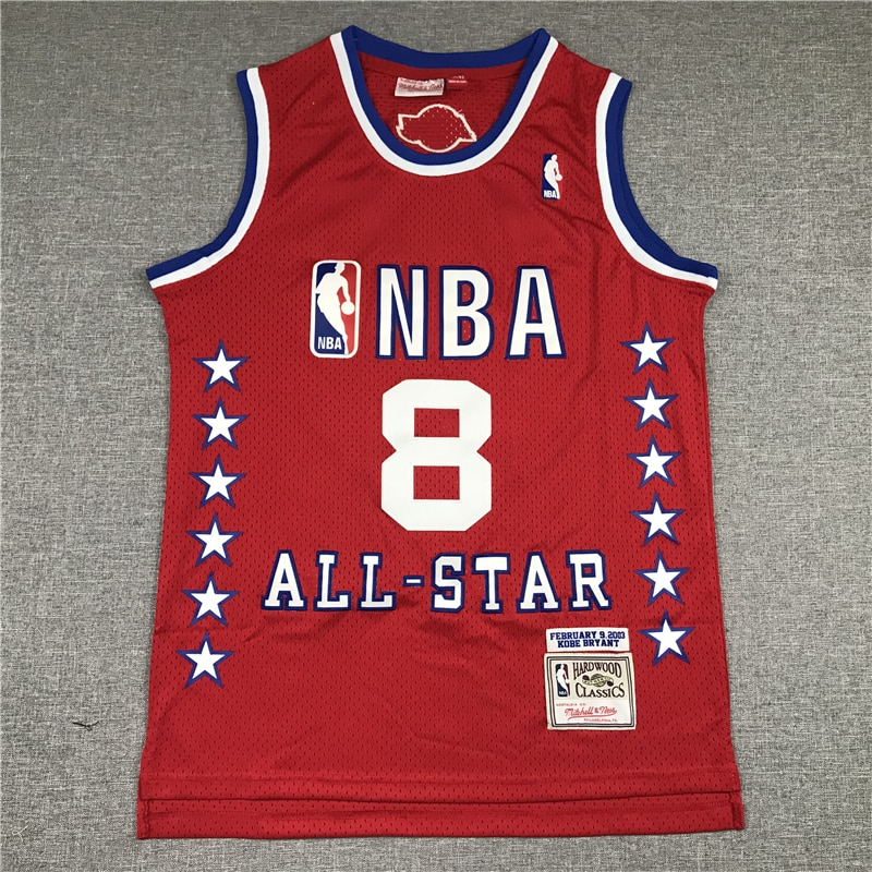 NBA Men's Los Angeles Lakers #8 Kobe Bryant 2003 All-star Edition Red Basketball Jerseys Men Sports Jerseys