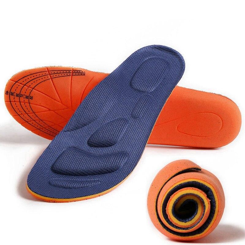 Plantillas ortopédicas con memoria de algodón transpirable para soporte de pie Plantilla de masaje para deportes al aire libre insertos y cojines Unisex
