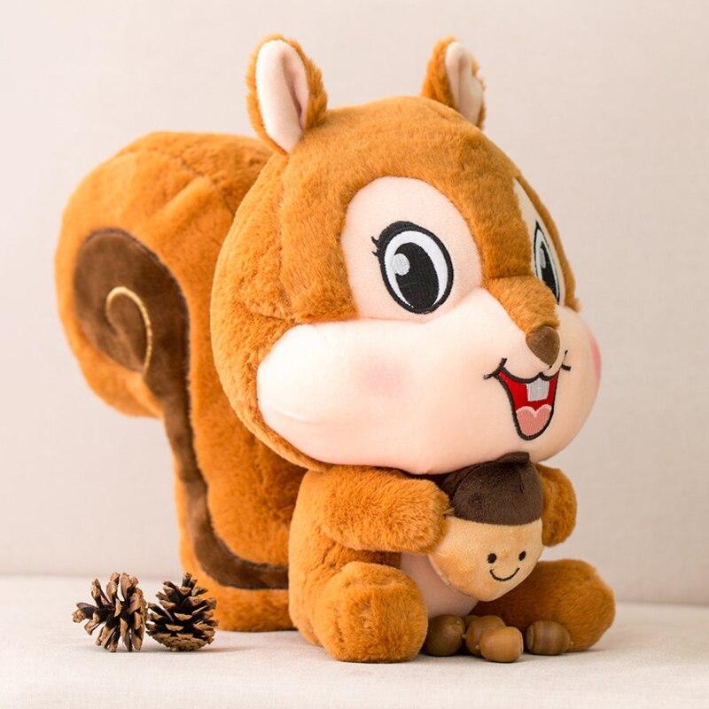 Candice guo, lindo juguete de peluche, adorable dibujo animado, animal sonriente, ardilla, abrazo, nuez, muñeco de peluche suave, cojín, Chico, regalo de cumpleaños, navidad