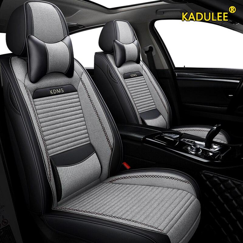 Kadulee linho tampas de assento do carro para hyundai ix35 ix25 sonata santafe tucson elantra acento i20 i30 i40 ix55 automóveis acessórios
