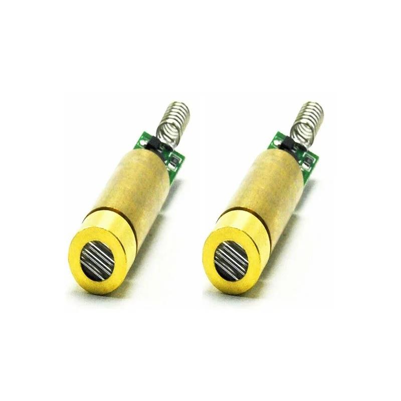 Промышленный латунь 532 нм 5 мВт-10 мВт зеленый лазер диод модуль линия луч w +% 2F 3–3,7 В драйвер упаковка из 2