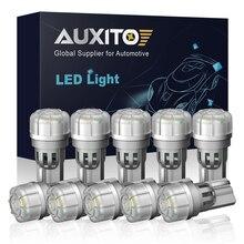 Auxito 10Pcs T10 W5W Led Lamp 194 168 Auto Lamp 3-SMD 5630 Interieur Licht Voor Kia Nissan Lexus Honda toyota Wit Rood Geel