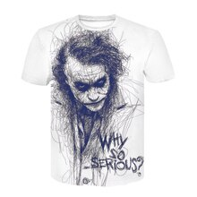 Men clothes 2019 Plus Size Cool Joker T Shirt Summer stranger things Harajuku 3d print t shirt Neck Casual Tee off white Shirt