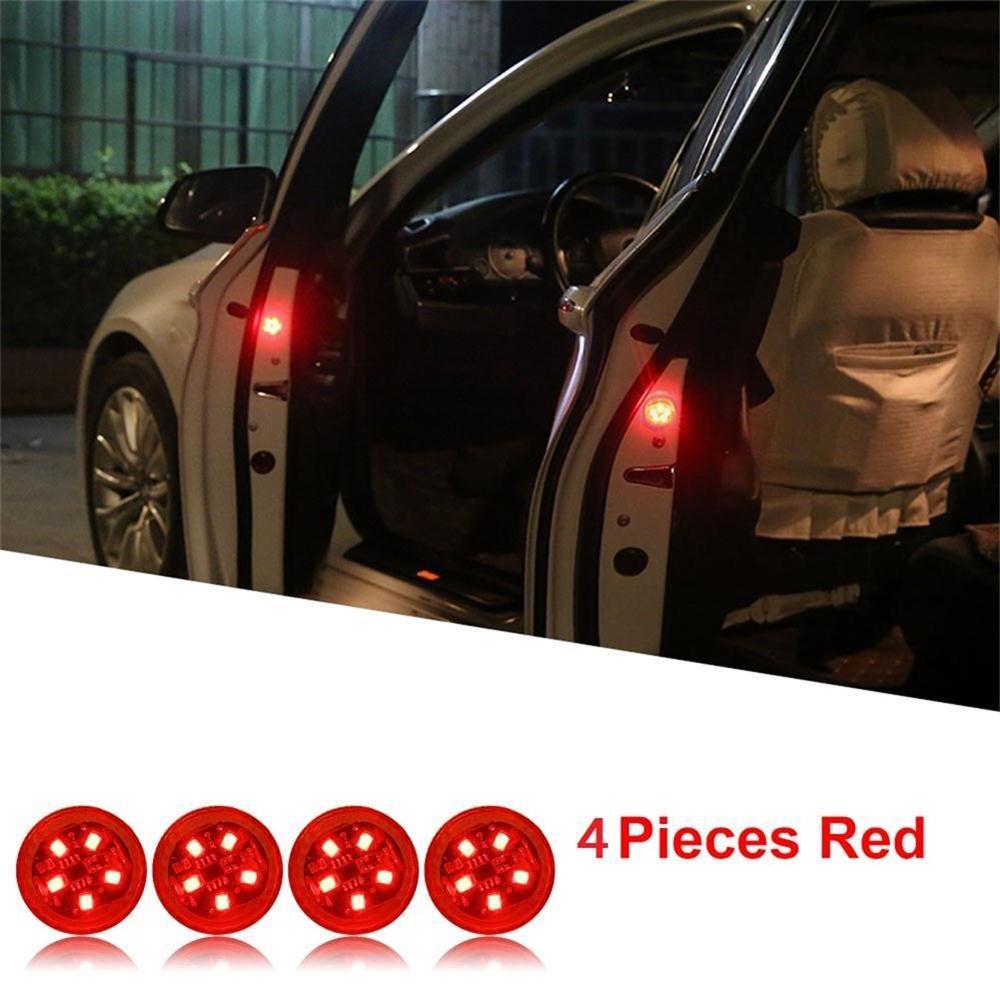4 pces leds abertura da porta do carro luzes de advertência para mitsubishi colt mirage fto magna lancer