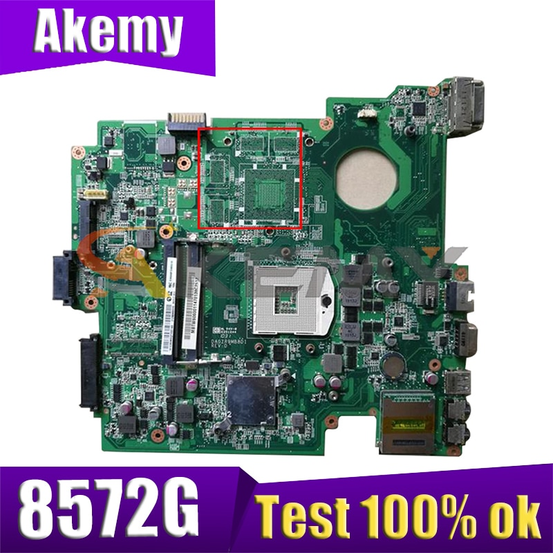 لوحة أم للكمبيوتر المحمول من AKEMY مخصصة لشركة أيسر ترافيلميت 8572 8572G MBTZT06001 DAZR9HMB8A0 HM55 UMA DDR3 اللوحة الرئيسية تم اختبارها بالكامل