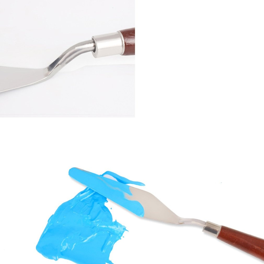 5PCS Mixed Palette Knife Painting Stainless Steel Scraper Spatula Art Supplies for Artist Canvas Oil Paint Color Mixing enlarge