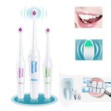 Battery Powed Electric Toothbrush with 3 Brush Heads Oral Hygiene Health Products BFC996