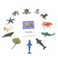 montessori toys ocean animal match cards and figurines matching game language learning materials juguetes montessori l1046f