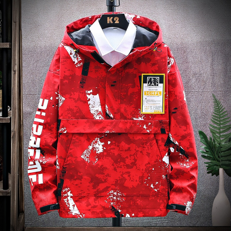 2021 Spring Summer Men's Jacket Hip Hop Handsome Men's Youth Jacket Super Hot Ins Camouflage Hooded Top Five Colors Available  - buy with discount