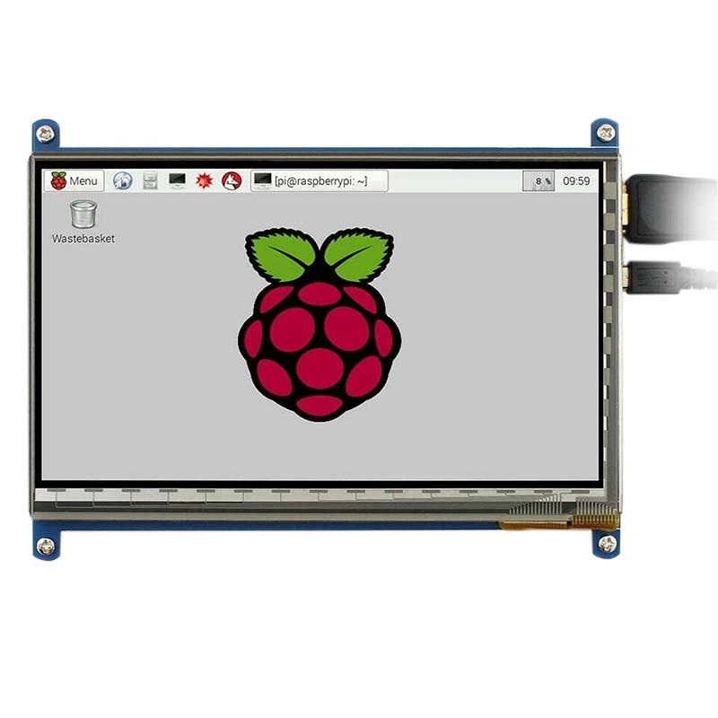 Waveshare 7 بوصة HDMI LCD (B) بالسعة الصحافة الشاشة 800X480 لدعم التوت Pi Windows10/8.1/8/7