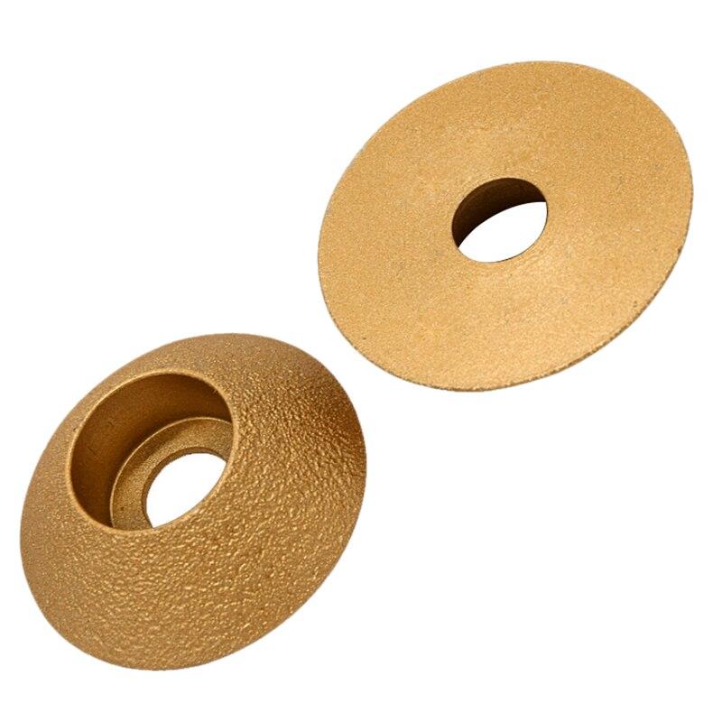 Amoladora angular de diamante de soldadura, rueda de pulido de piedra, borde biselado de 45 grados, disco de placa de mármol, rueda de molienda de cerámica