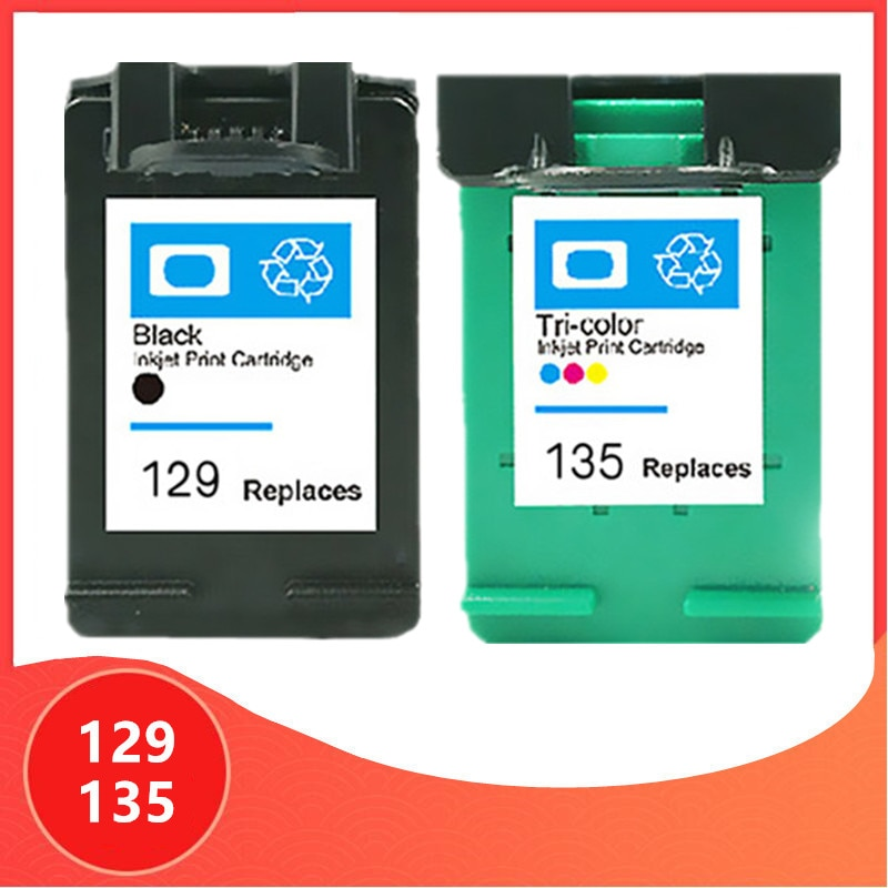 Compatible para hp 129 135 cartucho para hp 129 cartucho de tinta para hp Deskjet C4183 5943 6943 6983 D4163 2575 impresora