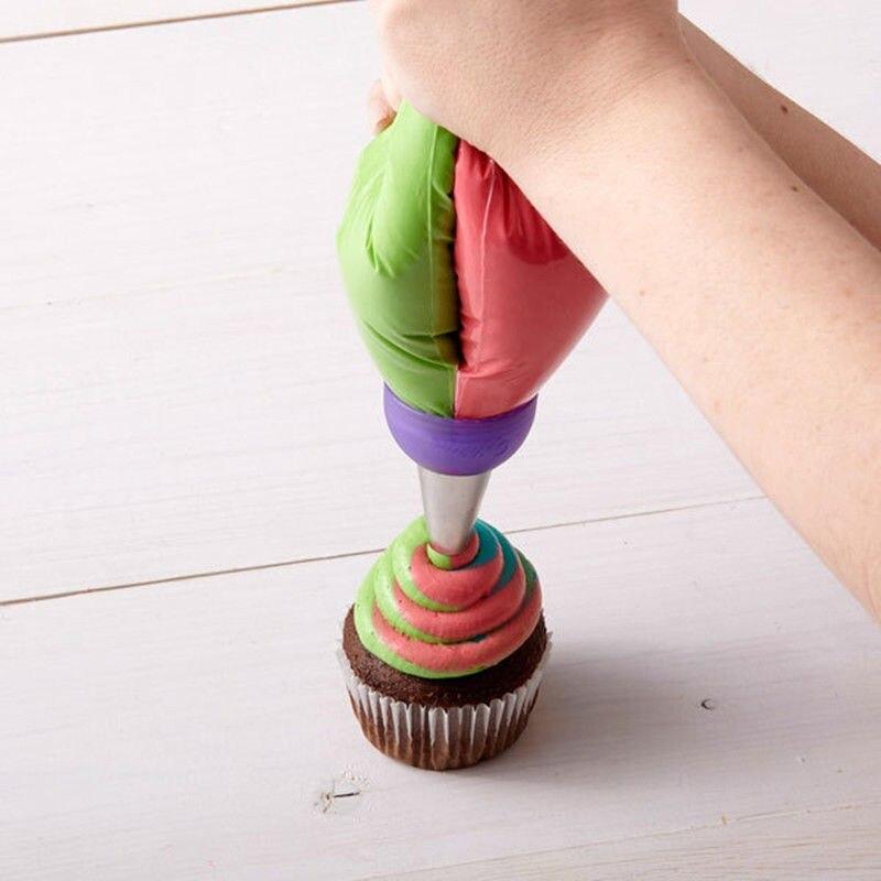 3 agujeros de crema de tres colores acoplador de torta herramientas de decoración de glaseado bolsa de pastelería convertidor de boquilla Cupcake Fondant postre proveedores