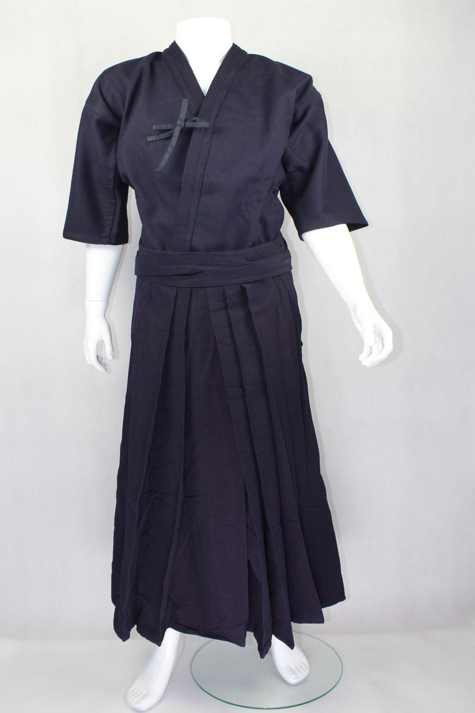 Kendo Kleidung Blau/Violett Blau Tops + Unterteilt Rock, jian dao yi, hakama