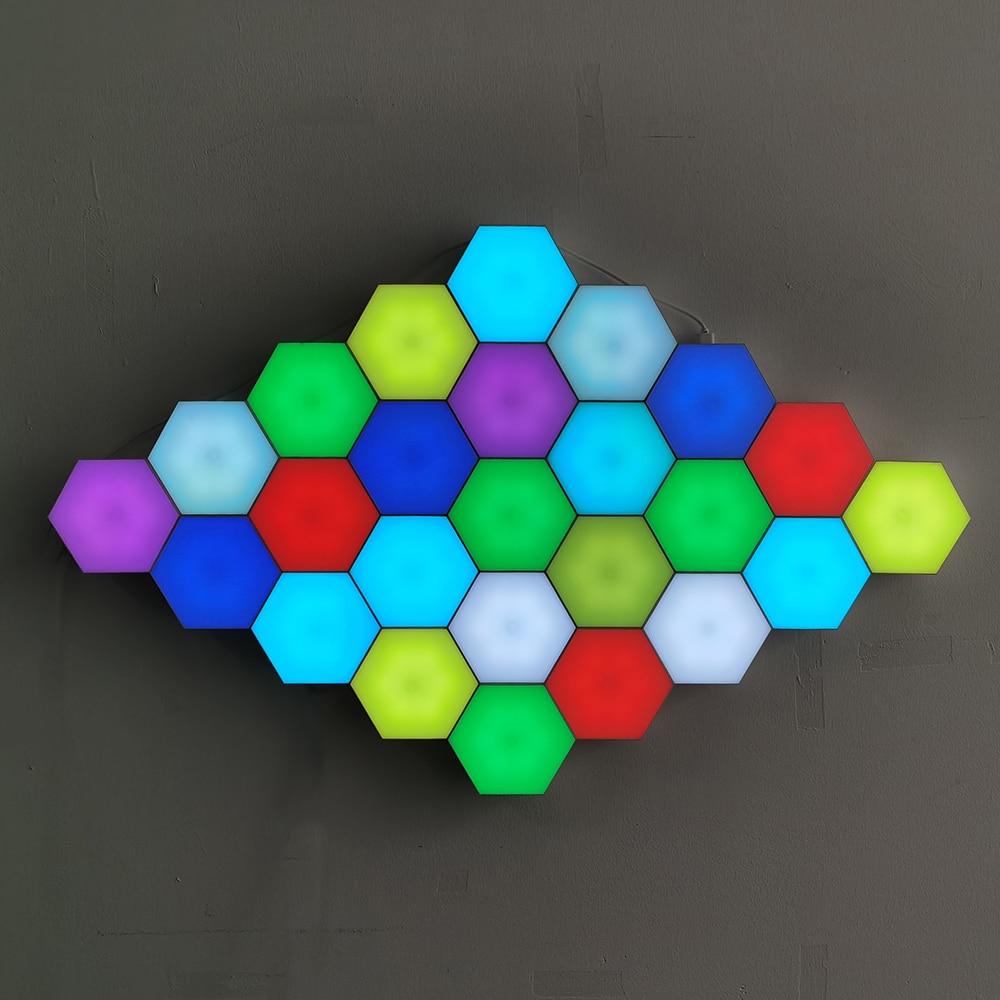 Modern LED Night Light Quantum Lamp Modular Sensitive Honeycomb Touch Wall Lamp Decor Bedroom Bedside Magnetic Gift Lighting enlarge