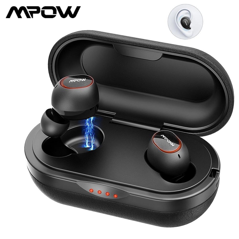 Mpow T5/M5 TWS سماعات بلوتوث 5.0 سماعات لاسلكية IPX7 سماعة مقاومة للماء 36H وقت اللعب دعم Aptx TWS ل شاومي آيفون