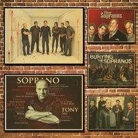 Affiche en papier Vintage James godolfini The Sopranos  peinture murale  decoration de la maison  42x30 CM  30x21 CM