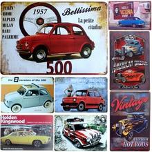 Affiche Plaque rétro en métal   Décoration rétro rouge voiture, Vintage métal étain signe Plaque rétro affiche Bar Pub Club mur maison décor affiche murale