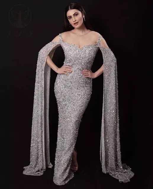 Vestidos de Noche 2020 sirena para mujeres de manga larga lentejuelas Dubai Turquía Fiesta Formal noche Prom vestidos