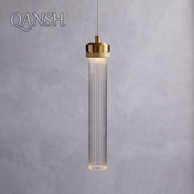 lampada led de vidro longa moderna luminaria pendente com lampada de pendurar para