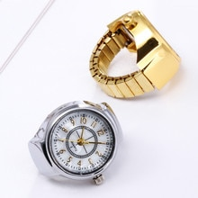 Rings For Women Dial Quartz Analog Watch Creative Steel Cool Elastic Quartz Finger Ring Watch кол