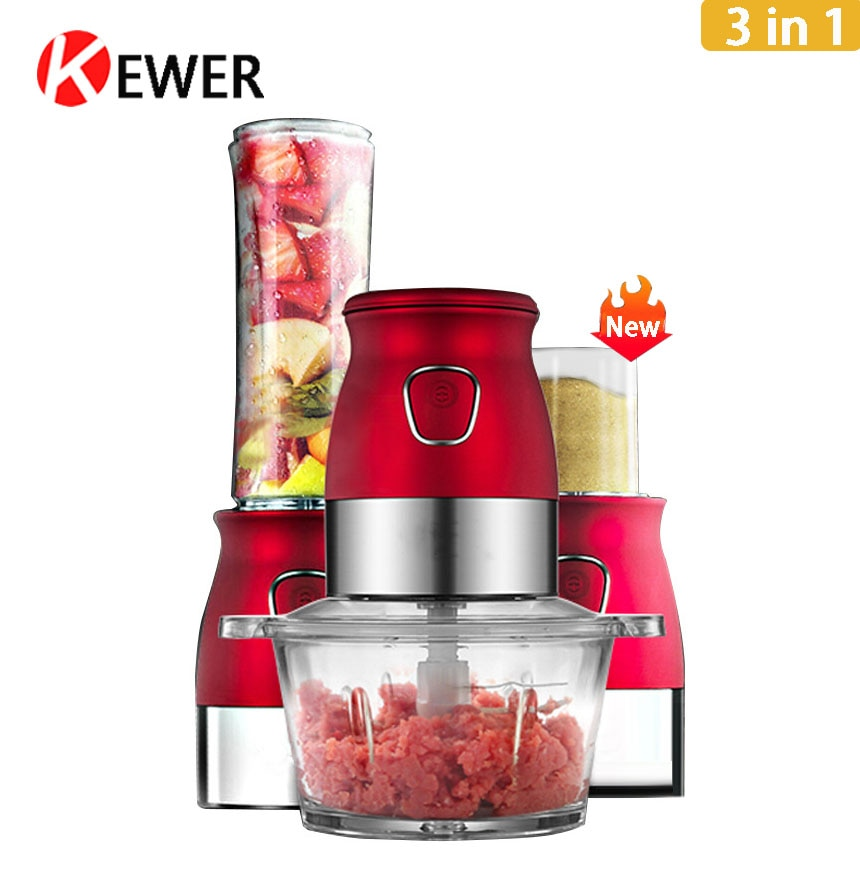 Handheld Portable Blender Mixer Multifunction Food Processor With Chopper Bowl Juicer Bottle Meat Grinder Baby Food Maker