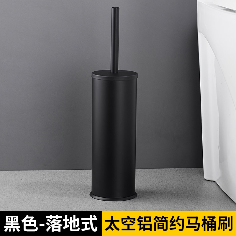 Stainless Steel Toilet Brush Holder Black Long Bathroom Toilet Brush Flat Wc Hardware Brosse Toilette Household Merchandises 50 enlarge