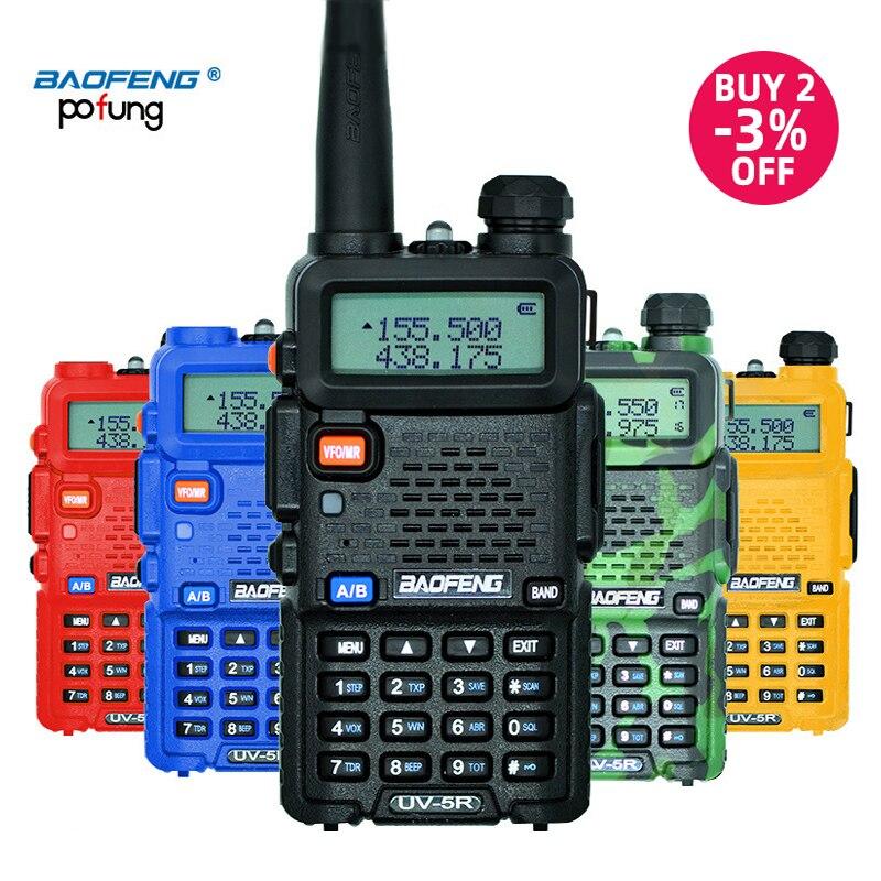 Baofeng UV-5R рация профессиональная CB радиостанция Baofeng UV 5R приемопередатчик 5 Вт VHF UHF портативная UV5R охотничий радиоприемник