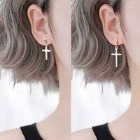 1pairs women cross earrings fashion punk cross pendant cartilage drop dangle earrings party jewelry aretes de mujer modernos