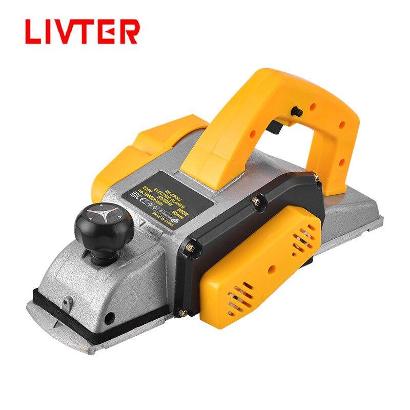LIVTER gran oferta 800W mini potencia manual espesor de madera jointer herramientas para cepillar el cepillo eléctrico máquina de carpintería