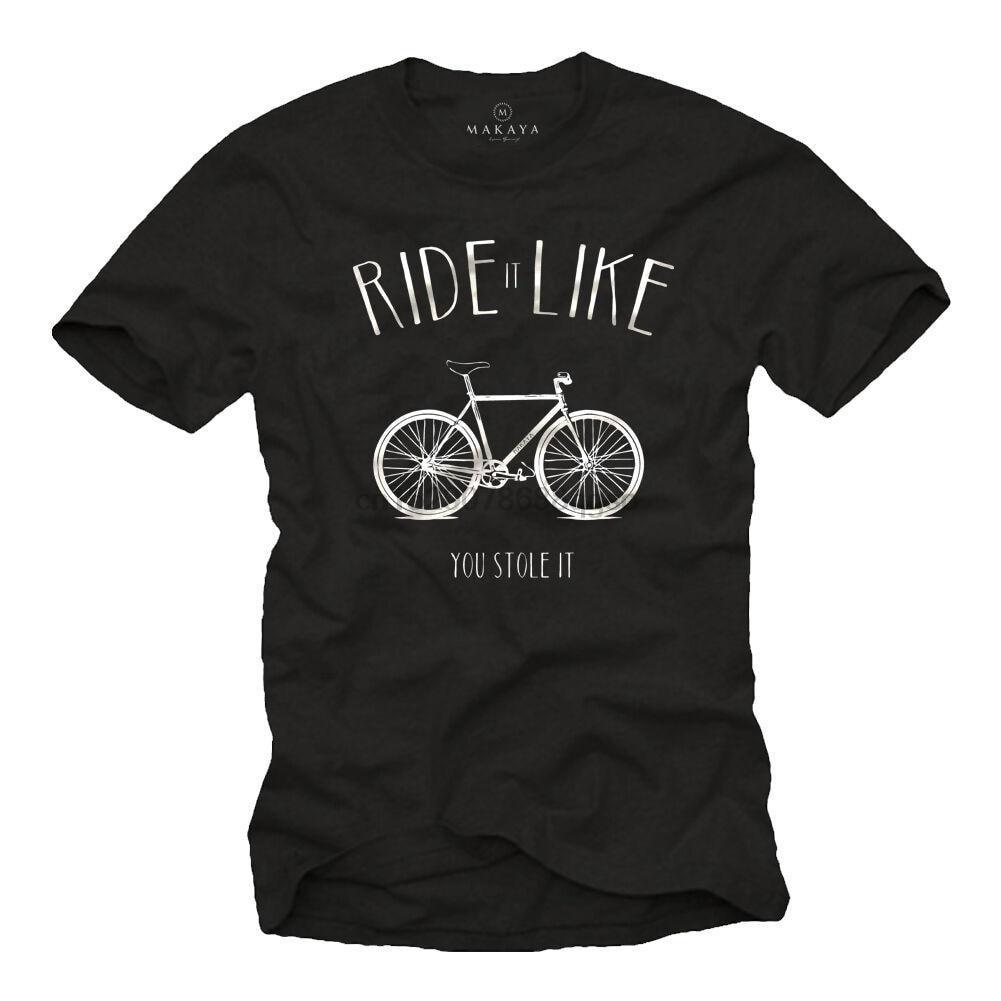 Camiseta para hombre RACING BICIYCLE con bicicleta FIXIE, camiseta de manga corta, camiseta Cool Casual pride, camiseta Unisex para hombres a la moda