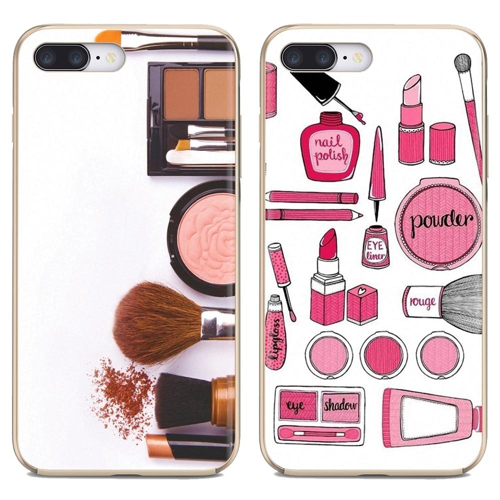 Herramientas de maquillaje de lápiz labial para Xiaomi Redmi 4A 7A S2 Note 8 3 3S 4 4X 5 Plus 6 7 6A Pro Pocophone F1, carcasa de silicona