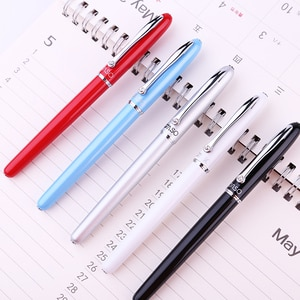 OASO S16 Metal Rollerball Pen with Refill 0.5mm Black Ink Fine Point Office Pens Business Gift Stationery with Case
