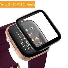 3D curva la cobertura completa de vidrio templado para fitbit viceversa 2 versa2 reloj inteligente protector de pantalla de cristal para fitbit versa2