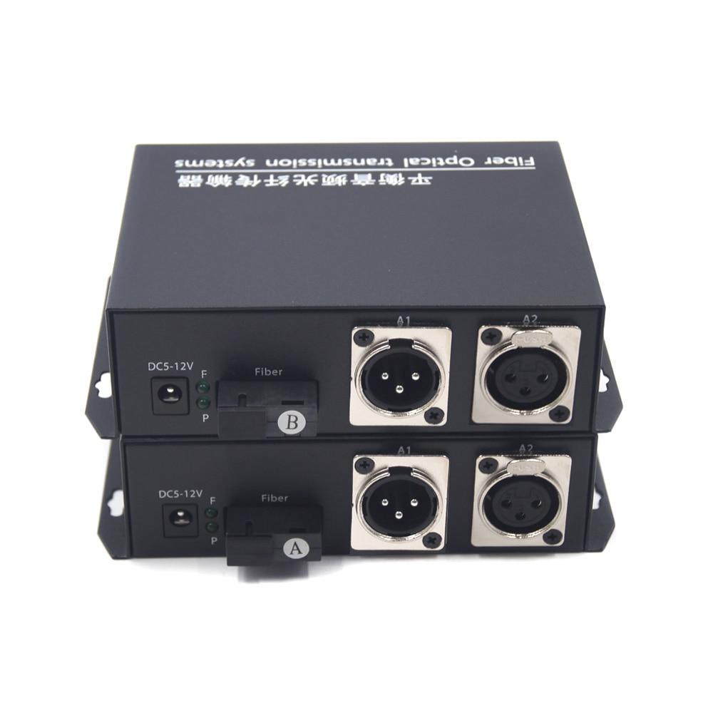 ثنائي الاتجاه 1 قناة الصوت المتوازن إلى الألياف البصرية موسع محول وسائط ، XLR الصوت المتوازن على الألياف البصرية SM 20 كجم