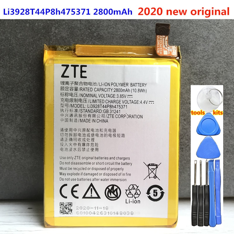 Original Li3928T44P8h475371 Battery For ZTE Blade V8 Mini BV0850 V0850 A1 C880 C880U C880A C880S AXON B2015 B2016 2800mAh