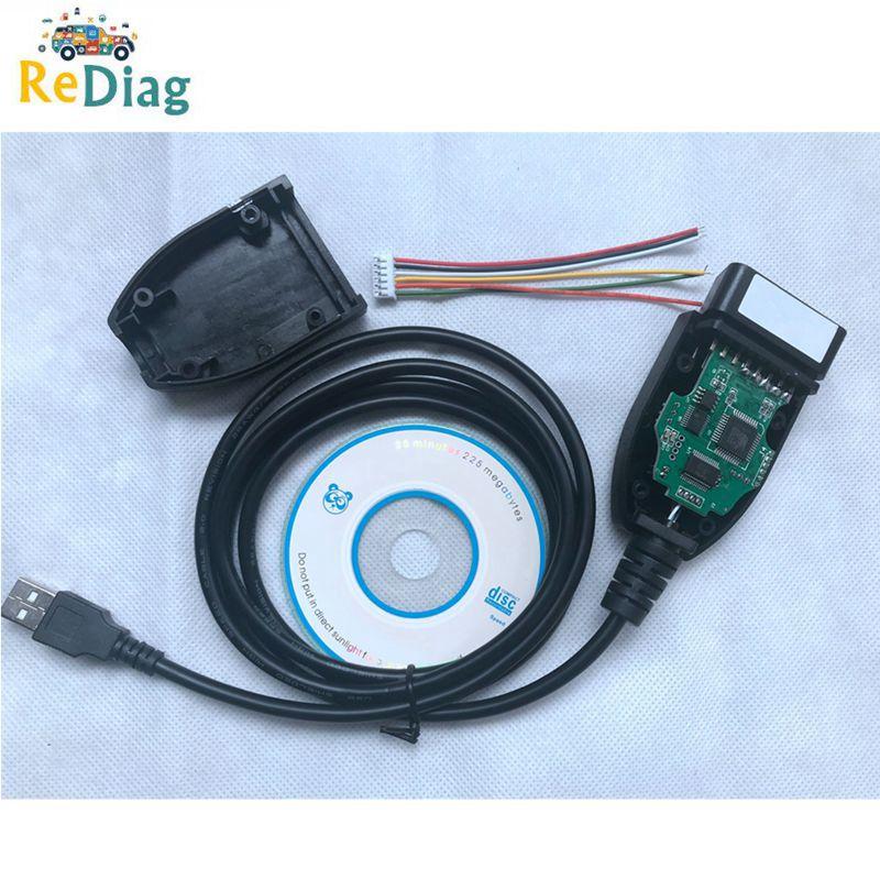 2020 mejor precio diagnóstico de coche OBD2 16Pin diagnóstico V1 17,8 Cable Multi-idioma ATMEGA162 FTDI FT232RL verde PCB