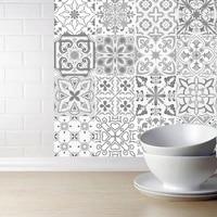 Autocollants de carrelage mural de style marocain pour cuisine  salle de bains cuisine ou dosseret  papiers peints en PVC impermeables et amovibles