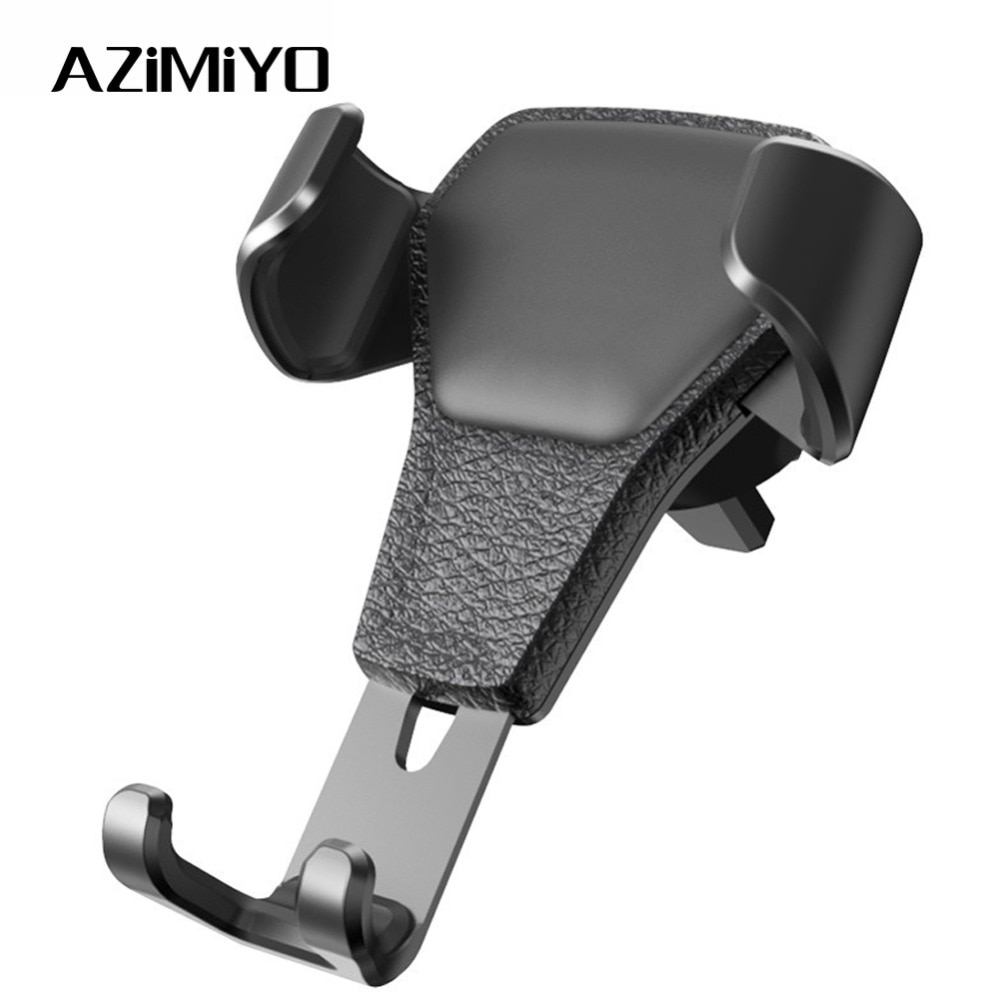 AZiMiYO Gravity Car Holder For iPhone Samsung Huawei Car Air Vent Mount Holder Metal Gravity No Magnetic Mobile Phone Holder