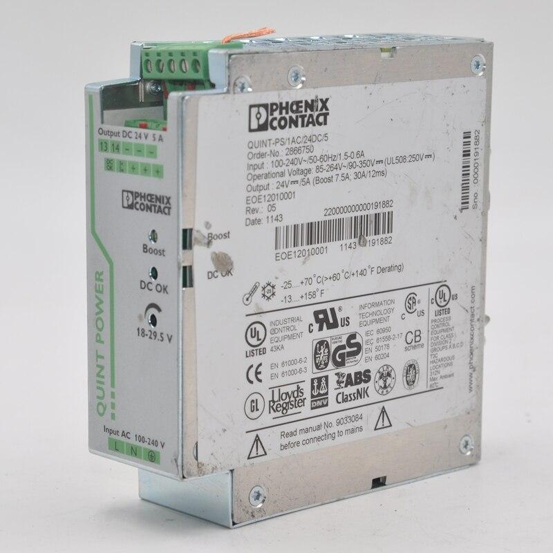Phoenix power supply single-phase power supply order-no 2866750 5aQuint-PS-1AC/24DC/5
