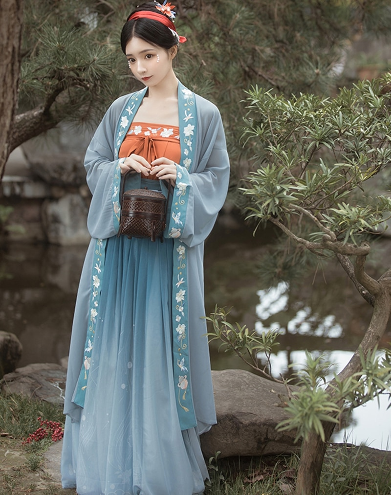 chinese traditional dress women Ancient Cosplay Hanfu Dress Tang Suit Girls Song Dynasty Princess Costume Folk Dance Clothes