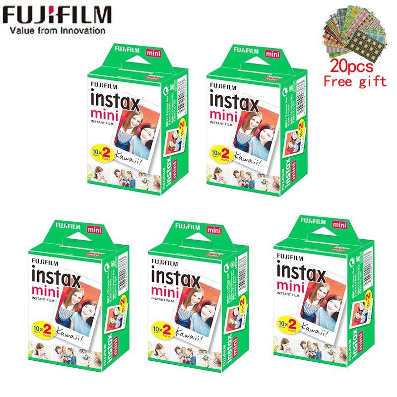 10-200 листов Fujifilm instax mini 11 9 пленка белый край 3 дюйма широкая пленка для мгновенной камеры mini 8 7s 25 50s 90 фотобумага