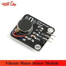 Pwm interruptor do motor de vibração brinquedo vibrar módulo sensor do motor do telefone móvel vibrador para arduino uno r3 mega2560 kit eletrônico diy