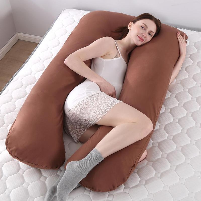 70x130cm Pregnant Pillow Case Gravida U Type Lumbar Pillowcase Multi Function Side Protect Cushion for Pregnancy Women Hot Sale