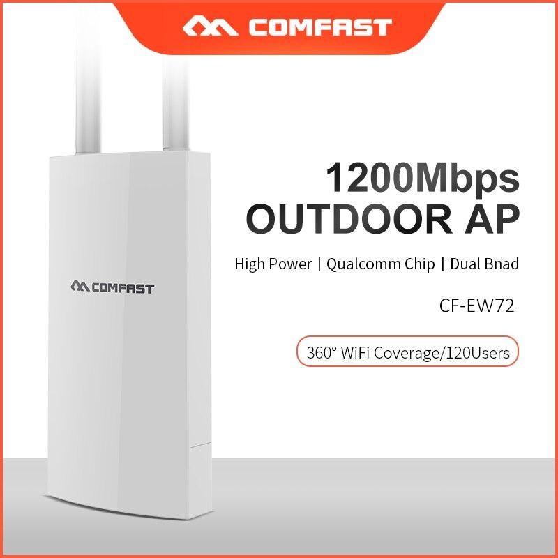 longa distancia ao ar livre wifi roteador 5ghz banda dupla de alta potencia 1200mbps
