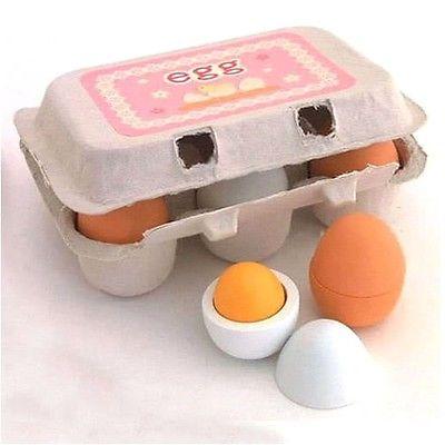 6 шт. деревянная имитация яиц желток ролевые игры игрушки кухня еда Кулинария Дети милые творческие игрушки подарок