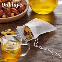 100 pcslot disposable tea bags for puer green tea bag infuser with string heal seal 7 x 9cm sachet teabag empty tea bags